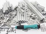Starter-Kit Stangenprofil Makerbeam 10x10, Alu Natur