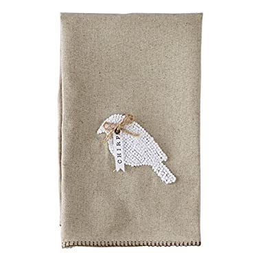 Mud Pie Bird French Knot Linen Towel