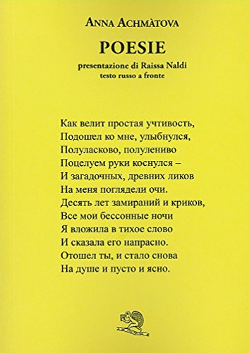 Poesie. Testo russo a fronte