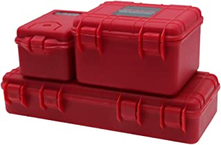 REhobby 3Pcs 1/10 Mini Toolbox Trunk Decoration Accessories for 1:10 RC Crawler Car Traxxas Trx4 Axial Scx10 90046 CC01 D90 D110 (red)