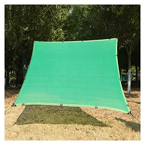 Patio Malla De Sombreo HDPE Pantalla De Jardín Verde Resistente A Los Rayos Ultravioleta Resistente Al Desgarro Solar Sombra Paño, para Exterior, Tejado, Invernadero, Cubierta Vegetal, Terraza, Pérgol