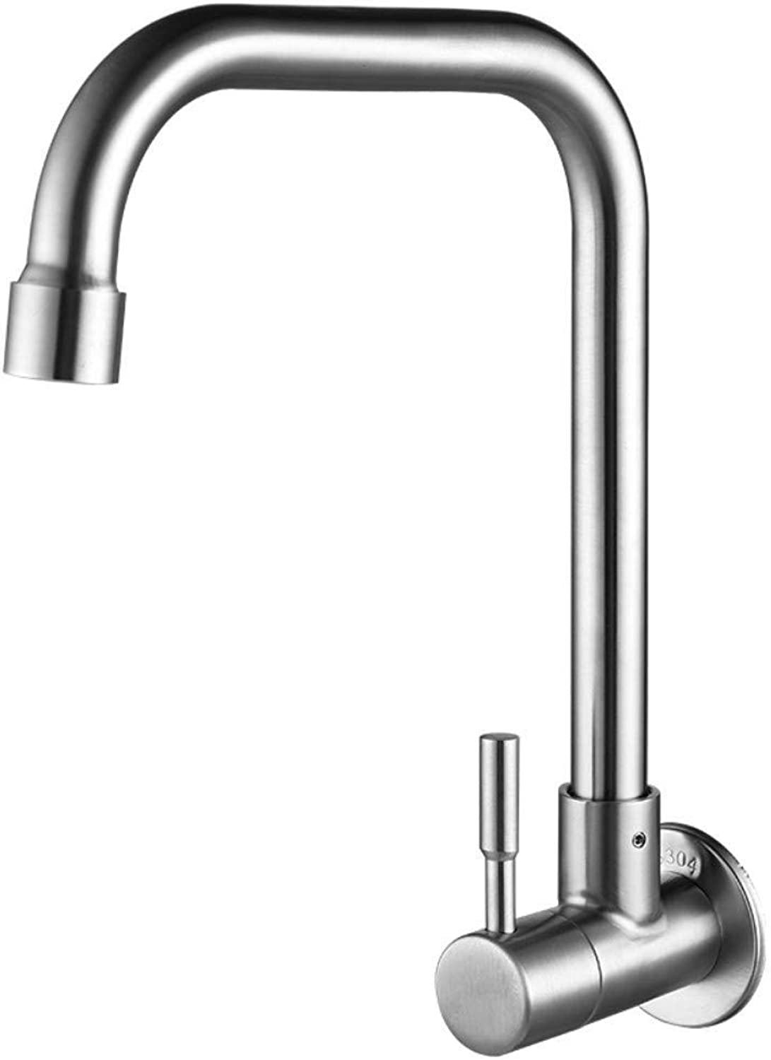 Faucet .Wall-Mounted Single Cold 304 Stainless Steel Kitchen Faucet can be redated