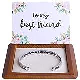 Friendship Gifts Friendship Bracelets Best Friend Gifts for Women Friends Female BFF Bestie Jewelry Best Friend Bracelet Birthday Christmas Ideas Stuff A True Friendship Is A journey Without An End