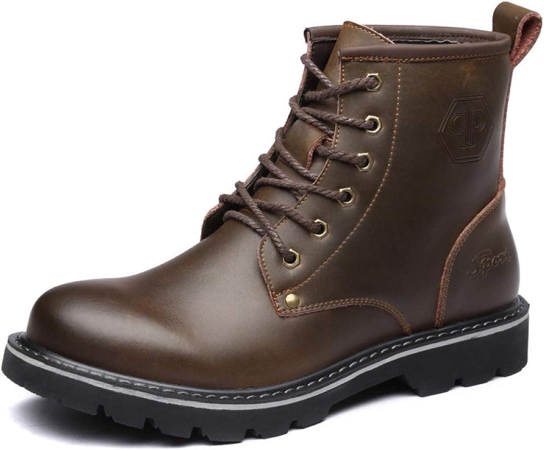 Retro Stiefeletten High Top Lace-Up Leder-Schuhe Für Mnner Martin Stiefel Outdoor Trekking Wanderschuhe Arbeitssicherheit Wüste Schuhe Stiefel