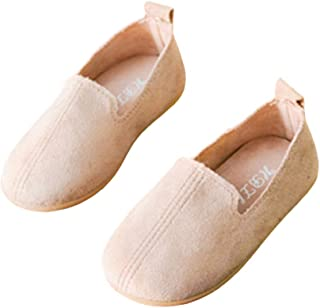 Hopscotch Boys and Girls Fabric Solid Loafer in Beige Color