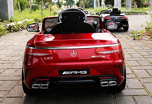 RC Auto kaufen Kinderauto Bild 5: Mercedes-Benz S63 AMG Cabriolet Ride-On 12V Elektro Kinderauto Kinderfahrzeug Kinder Elektroauto (ROT PAINT)*