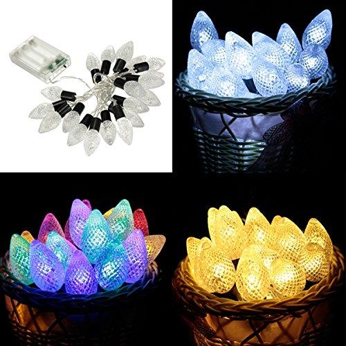Masunn 20 stuks LED conische vorm snoer Lights Wedding Party Kerstmis kerstdecoratie