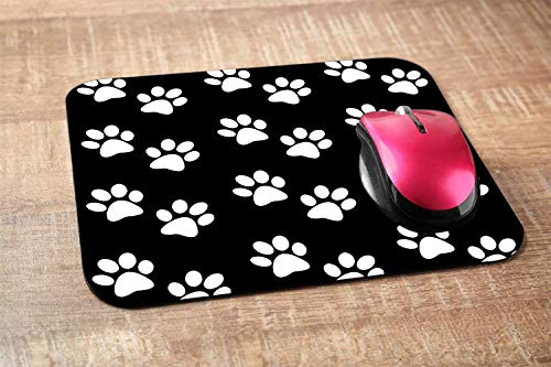 Nicokee Dog Paw Gaming Mousepad Dog Paw Prints Black White Mouse Pad Mouse Mat for Computer Desk Laptop Office 9.5 X 7.9 Inch Non-Slip Rubber Photo #4