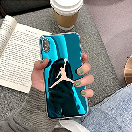 ff03a70ee42d70 1 piece luxury Blue light fly man AIR Jordan 23 case for iPhone X Xs Max