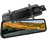 Backup Camera, 10Inch 1080P HD Mirror Dash Camera, Rear View Front and Rear Dual Lens with Loop Record, G-Sensor, 1080P Waterproof Reversing Assistance Camera, Parking Monitor, Night Vision [GRC]