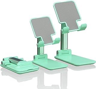 Sexeeg Portable Cell Phone Stand for Desk, Adjustable Foldable Tablet Mount Mobile Phone Holder for Desktop, Bed, Compatib...