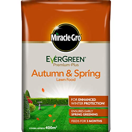 14kg 400m2 10/% Extra Miracle-Gro Evergreen Autumn Lawn Care 360m2