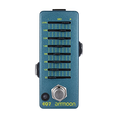 ammoon EQ Equalizer Guitar Effect Pedal 7-Band EQ Aluminum Alloy Body with True Bypass (EQ7)