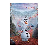 Jigsaws Puzzles 300 Pieces, Creative Frozen Olaf Leaves Puzzle for Kids Adults Educational Intellectual Game Gift, 10.2' x 15'