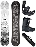 AIRTRACKS Snowboard Set - Planche Akasha Wide 159 - Fixation Master - Softboots...