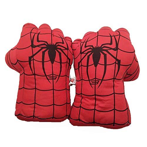 U/C Kinder Spiderman Boxhandschuhe Smash Hands Fäuste Iron Man Captain America Cosplay Soft Plüsch Boxtraining Handschuhe Spielzeug Geschenk,Spiderman A