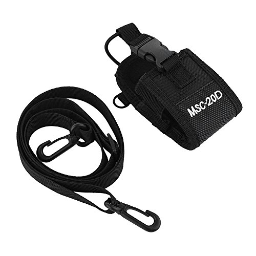 Custodia portatile Walkie Talkie Nylon con tracolla regolabile Bidirezionale Radio Holder fondina per MSC-20D