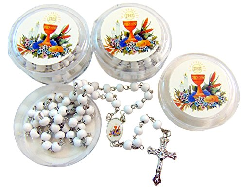 Westman Works First Holy Communion Rosaries Students Bulk Lot Rosary Set for Boys of Girls, 12 Pack