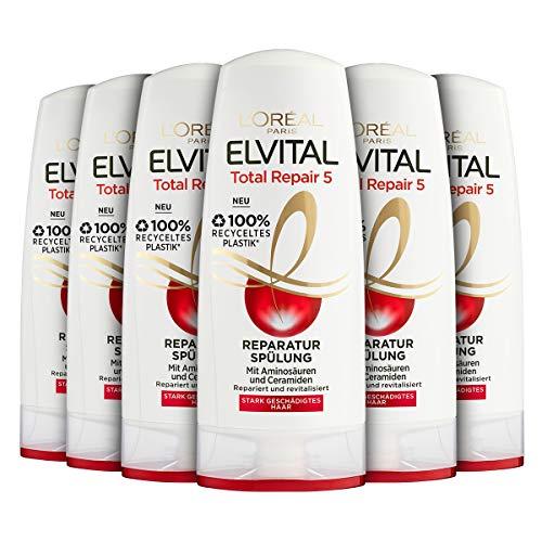 L\'Oréal Paris Elvital Reparatur-Spülung Total Repair 5, 6er Pack (6 x 250 ml)