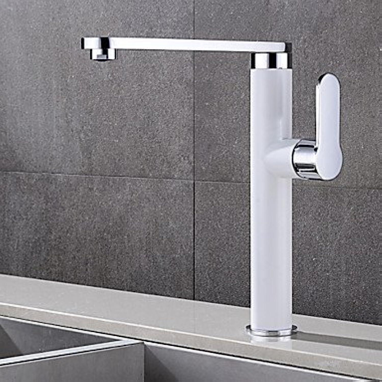 Contemporary Deck Mounted redatable Ceramic Valve Single Handle One Hole Chrome, Bathroom Sink Faucet