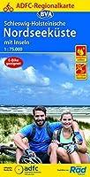 ADFC-Regionalkarte Schleswig-Holsteinische Nordseekueste mit Inseln 1:75.000, reiss- und wetterfest, GPS-Tracks Download