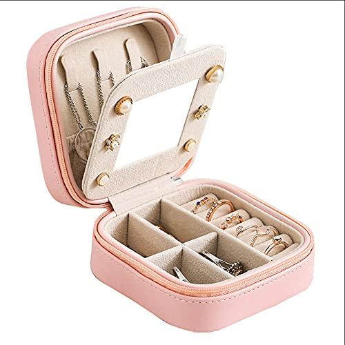 Caja de joyería Pantalla portátil Organizador Organizador Cajas de Viaje Terciopelo Pendiente Collar Anillo Holder Pequeño Caso de joyería Caso Organizador