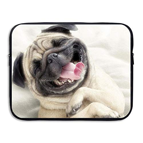 Business Briefcase Laptop Sleeve Laughing Pugs Animals Case Cover for MacBook Pro Air Lenovo Samsung,15inch