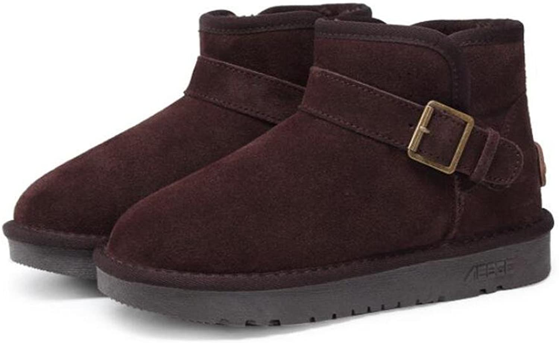 neue Männer Winter Schuhe Einfarbig Schnee Stiefel Baumwolle