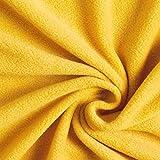 Fabulous Fabrics Fleece curry, Uni, 150cm breit –