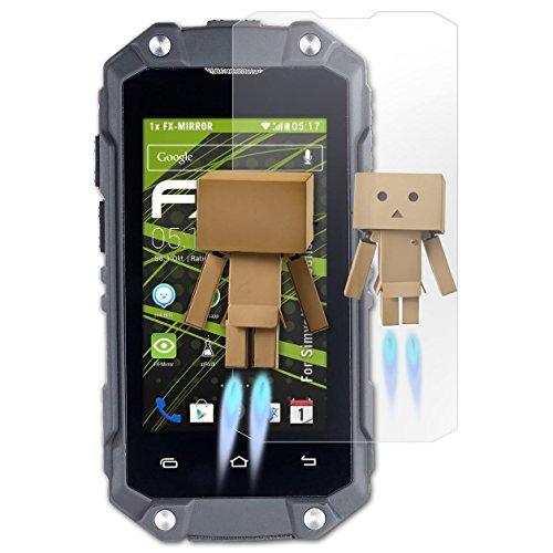 atFolix Bildschirmfolie kompatibel mit Simvalley-Mobile SPT-210 Spiegelfolie, Spiegeleffekt FX Schutzfolie