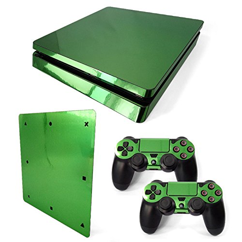 Mcbazel Pattern Series Vinyl Skin Sticker For PS4 Slim Controller & Console Protect Cover Decal Skin (Green Glossy)