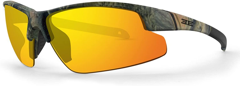 Epoch Bravo Leaf Camo Black Polycarbonate Frame with orange Mirror Polarized SuperHydrophobic Lens