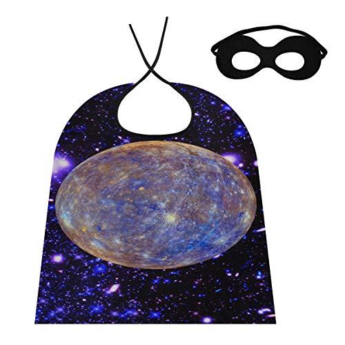 JINCAII Cape Cloaks Hermosos Planetas del Sistema Solar Nias Mago Capa Cosplay Capa Hombres para nios / Adultos Disfraz para Fiesta de Halloween Festival Cumpleaos