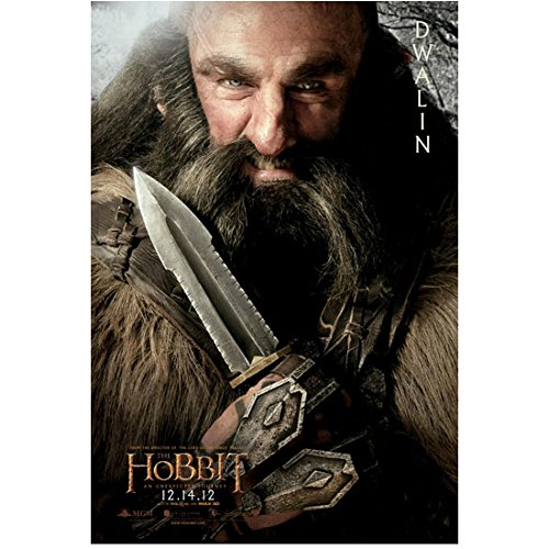 Graham McTavish as Dwalin with dagger Hobbit promo 8 x 10 Inch Photo