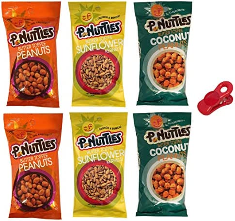 P nuttles Butter Toffee Nuts Variety Pack Pack of 6 with 2 of Each Flavor Butter Toffee Sunflower product image