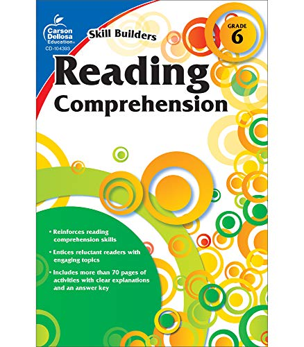 Carson Dellosa Skill Builders Reading Comprehension Workbook―Language Arts Grade 6 Reproducible Activity Book With Reading Passages and Activities (80 pgs)