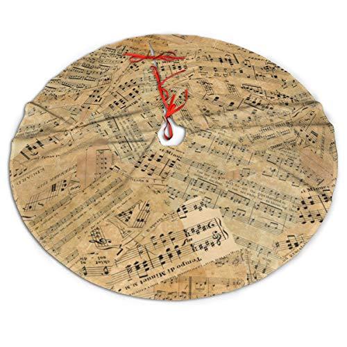GOWINEU Stücke Vintage Musik Baum Rock Weihnachtsbaum Rock, Weihnachtsfeier Dekoration 36in