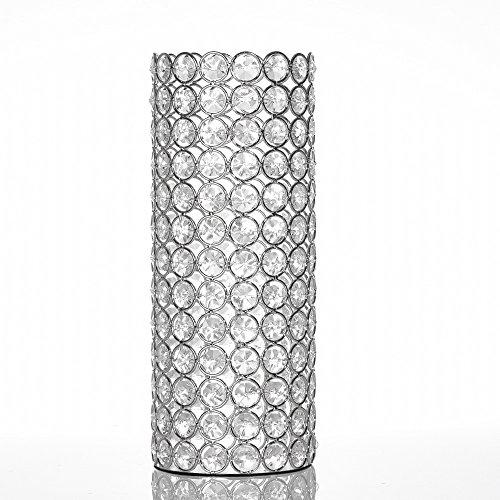 VINCIGANT Vase Silber, Kristall Deko Wohnzimmer Vase für Tischdekoration