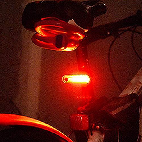 Keyohome 2X USB Fahrradlampe LED Fahrrad Licht Fahrradbeleuchtung Fahrad Rücklicht, LED Rückleuchte mit Zmark Reflektor Wasserdicht Fahrradlicht Hinten für Fahrrad MTB