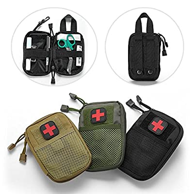 LIVIQILY Tactical Medical kit molle Accessory kit Camping First Aid Kits Medicine Storage Bag Portable Package Emergency Medical Kit Survival Medicine Pills Pocket Container Perfect (Black)