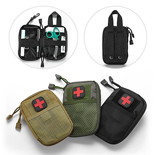 LIVIQILY Tactical Medical kit molle Accessory kit Camping First Aid Kits Medicine Storage Bag Portable Package Emergency Medical Kit Survival Medicine Pills Pocket Container Perfect (Army Green)