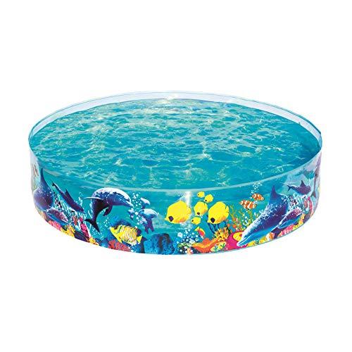 Bestway FILL 'N FUN Odyssey Pool, Pool rund für Kinder, mit buntem Unterwasser-Design, 183x38 cm
