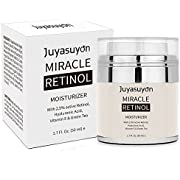 Retinol Moisturizer Cream, niceEshop(TM) Majestic Pure Retinol Cream for Face and Eye, Anti Aging Formula Reduces Wrinkles and Fine Lines, with 2.5% Active Retinol, Hyaluronic Acid, Vitamin A, C, E