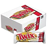 TWIX Sharing Size White Chocolate Caramel Cookie Bar Candy 2.64-Ounce Bars 20-Count Box