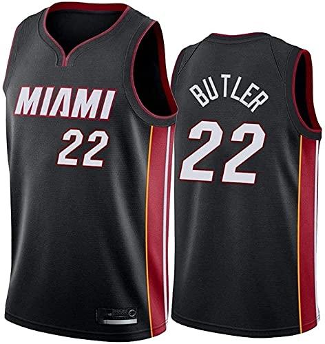 ALXLX NBA Miami Heat 22# Men's Women Jersey - Butler Jerseys Transpirable Baloncesto Baloncesto Swingman Jersey, Black a - L