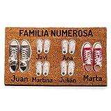 NANNUK Paillasson personnalisé en fibre de coco Famille 6