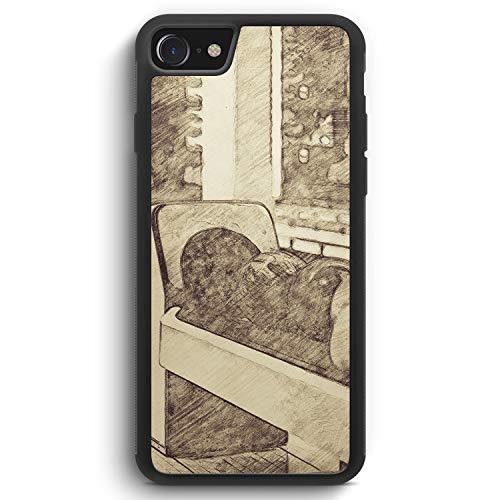 Vintage Bowling Kugeln - Silikon Hülle für iPhone 8 - Motiv Design Sport - Cover Handyhülle Schutzhülle Case Schale