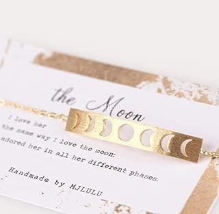 Moon Phases Bar 14k Gold Fill Bracelet