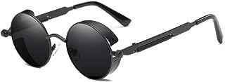 Vintage Steampunk Retro Metal Round Circle Frame Sunglasses