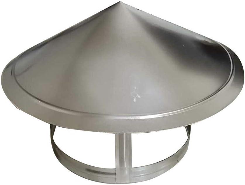 Capuchon de Protection de Protection Contre la Pluie de Tuyau Capot de Toit de Fin en Acier Inoxydable pour Conduit de Ventilation Capuchon de Chapeau de Pluie DZDZXQG Capot de chemin/ée 75mm